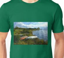 Small boats by a lake Unisex T-Shirt