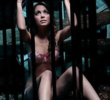 Alice Shackled in the Cage by shackledmaidens