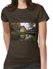 Countryside house at the lake Womens Fitted T-Shirt