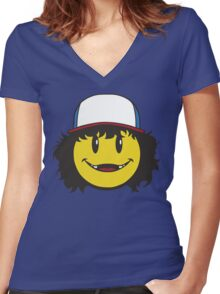 Official Dustin Charity Campaign Tee Women's Fitted V-Neck T-Shirt
