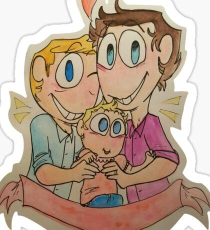 a happy family :) Sticker