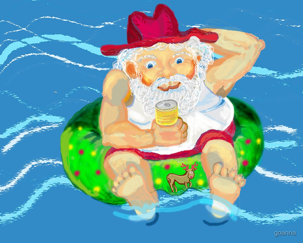 Santa on holidays by goanna