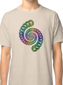 Vinyl LP Record Vortex - Metallic Rainbow Spiral Classic T-Shirt