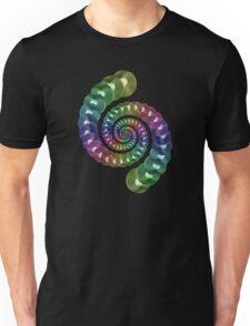 Vinyl LP Record Vortex - Metallic Rainbow Spiral Unisex T-Shirt