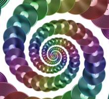 Vinyl LP Record Vortex - Metallic Rainbow Spiral Sticker