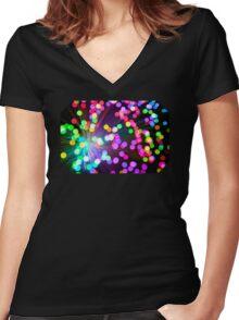 Fibers 3 Women's Fitted V-Neck T-Shirt