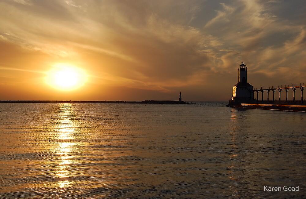 Sunset reflections by Karen Goad