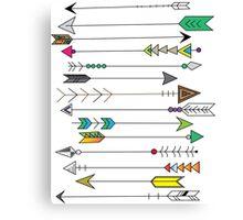 Feather Head Arrows Canvas Print