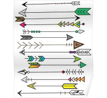 Feather Head Arrows Poster