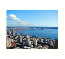 Seattle Water Front 514 Art Print