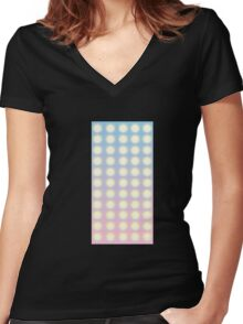 Glitch Homes Wallpaper club light wall Women's Fitted V-Neck T-Shirt