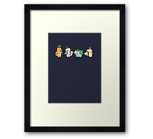 PokeGents Framed Print