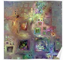 Crystalline Squares 8 Poster