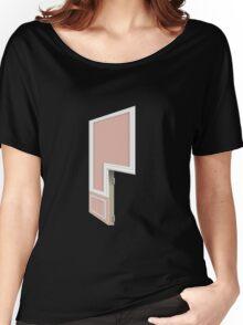 Glitch Homes Wallpaper coralpillar molding right divide Women's Relaxed Fit T-Shirt