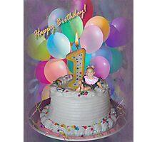 Happy birthday I'm 1! Photographic Print