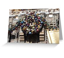 Disneyland Christmas Time- Castle Wreath Greeting Card
