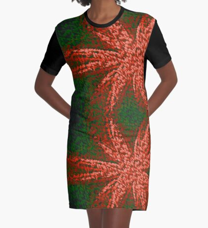 Red and Green It is Graphic T-Shirt Dress