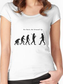 Go Back, We Screwed Up Women's Fitted Scoop T-Shirt