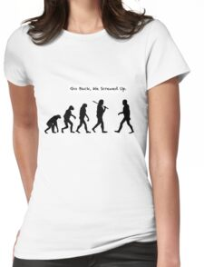 Go Back, We Screwed Up Womens Fitted T-Shirt