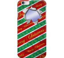 Ripped Christmas Wrapping iPhone Case/Skin