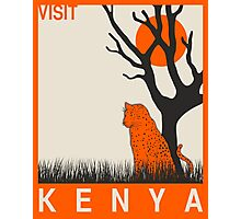 Visit KENYA Travel Poster Photographic Print