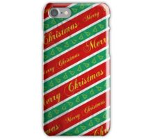Christmas Wrapping Paper iPhone Case/Skin