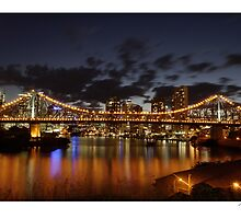 Story Bridge Sunset by Paul Cotelli