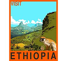 Visit ETHIOPIA Travel Poster Photographic Print