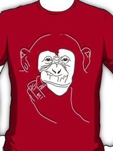 Chimpanzee T-shirt the thinker T-Shirt