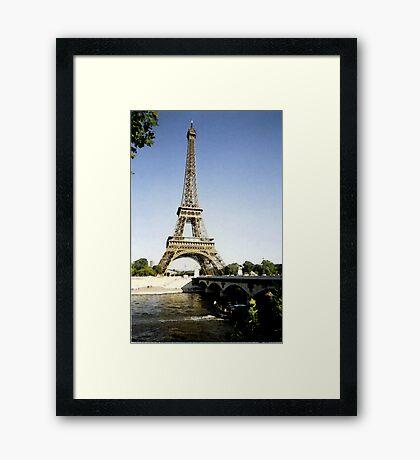eiffel tower in paint Framed Print