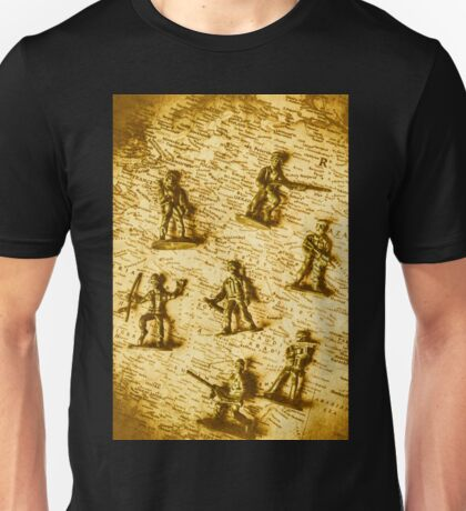 Soldiers and battle maps Unisex T-Shirt
