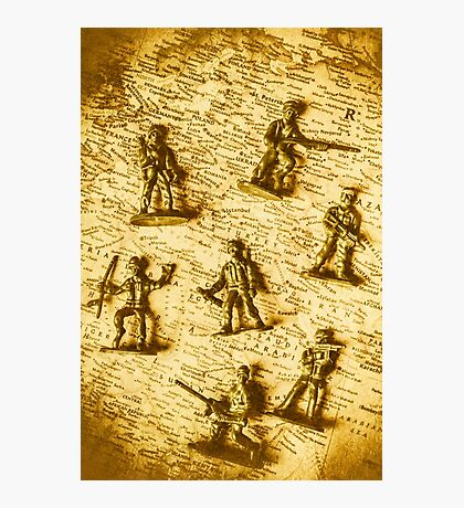 Soldiers and battle maps Photographic Print