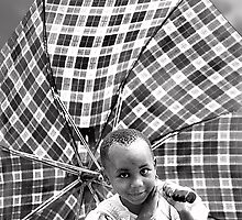 'Umbrella Girl, northern Rwanda.' www.cnecpi.com.au by Melinda Kerr
