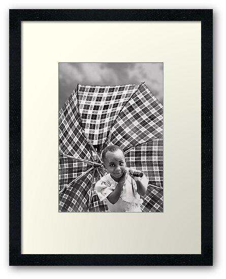 'Umbrella Girl, northern Rwanda.' www.cnecpi.com.au by Melinda Kerr