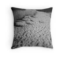 A Billion footprints Throw Pillow