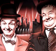 LAUREL AND HARDY by bundi