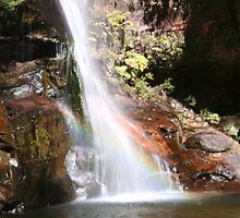 Rainbow in the falls by lisarose