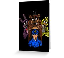 Surviving five nights of work Greeting Card