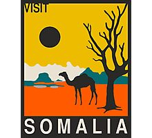 Visit SOMALIA Travel Poster Photographic Print