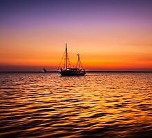 Golden Sunset by Russell Charters