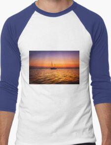Golden Sunset Men's Baseball ¾ T-Shirt