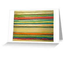 yellow works Greeting Card