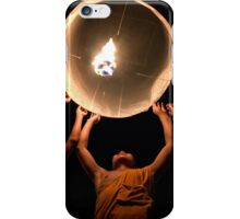 Young Monks releasing a lantern - Thailand iPhone Case/Skin