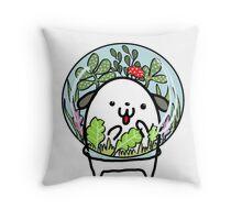 Fluffy Terrarium Throw Pillow