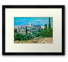 Athenian Acropolis from Philopappou Hill, 1960 Framed Print
