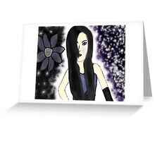 Gothic Princess Of Time Greeting Card