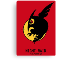 Night Raid + Caption Canvas Print