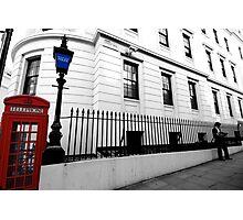 phone box and rails Photographic Print
