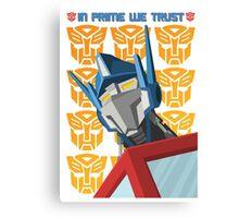 In Prime We Trust (Variant) Canvas Print