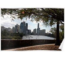 Brisbane River. Poster